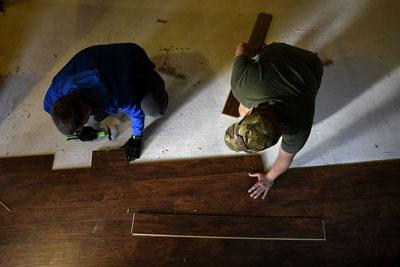 Laying Flooring